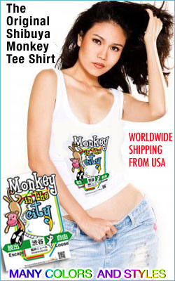 The original Shibuya Monkey Tee shirt